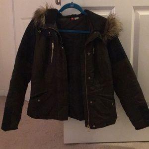 HM Winter Jacket with Fur Hood